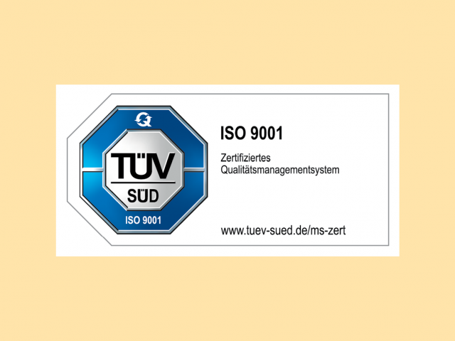 TüV-Zertifizierung